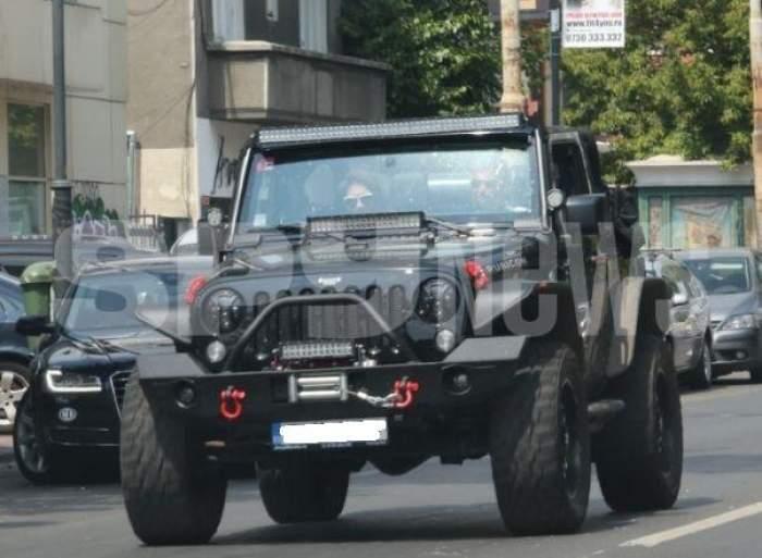 Cristi Boureanu și Laura Dincă, cu mașină prin trafic