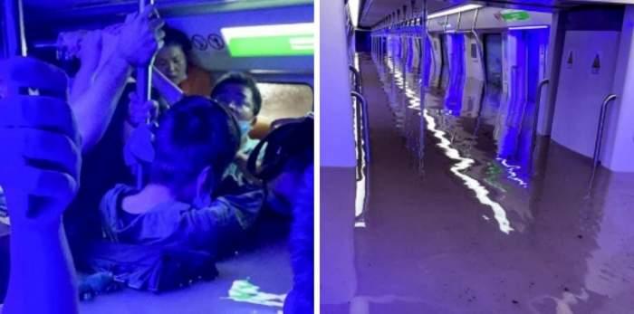 Tragedie în urma ploilor torențiale din China. 12 oameni au murit înecați într-un metrou inundat