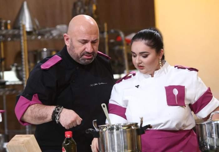 Narcisa Birjaru ți Cătălin Scărlătescu în bucătărie