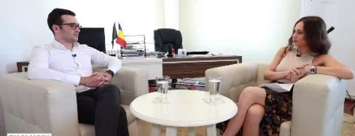 Radu Mazăre Jr și reporterul Xtra Night Show