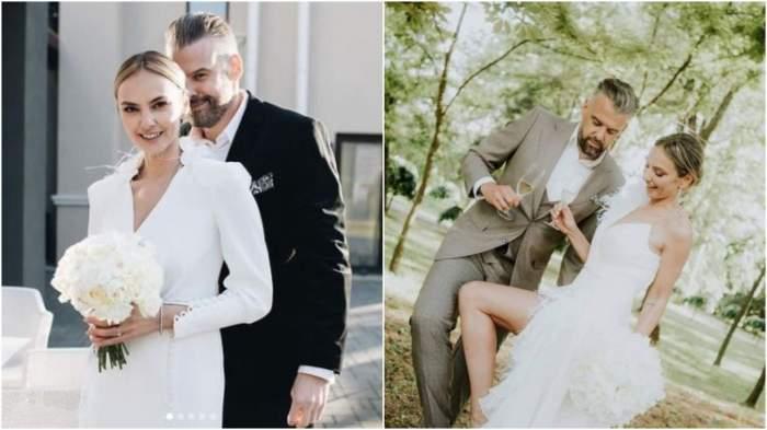 Colaj foto de la nuntă cu Roxana Ionescu și Tinu Vidaicu