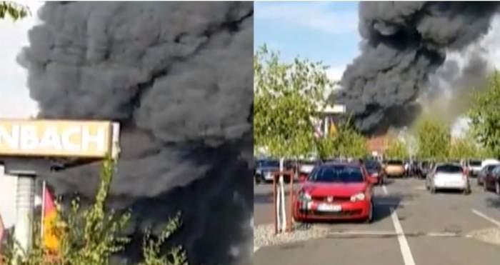 Incendiu puternic la o fabrică din Popești-Leordeni. Opt oameni au fost răniți