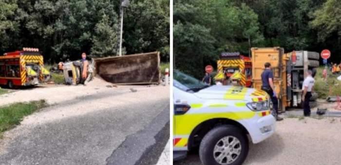 Accident mortal în Franța, după ce un șofer român, în vârstă de 40 de ani, a pierdut controlul volanului