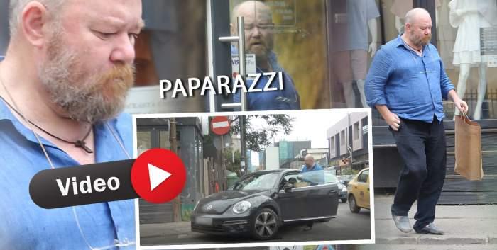 """Mihai Constantin, de nerecunoscut pe străzile Capitalei. """"Ionică"""" din Liceenii s-a transformat drastic de când a ieșit din lumina reflectoarelor. Imagini rare surprinse de paparazzi Spynews.ro / PAPARAZZI"""