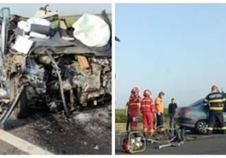 Accident cumplit în Olt. Trei persoane, printre care și un copil, au decedat după ce s-au izbit cu mașina de un TIR / VIDEO