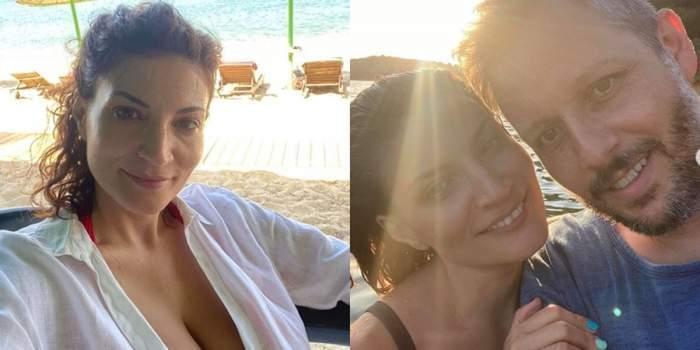 Colaj foto cu Ioana Ginghină și iubitul ei