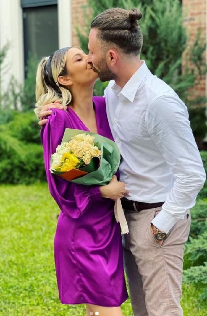 elena matei si iubitul sarut