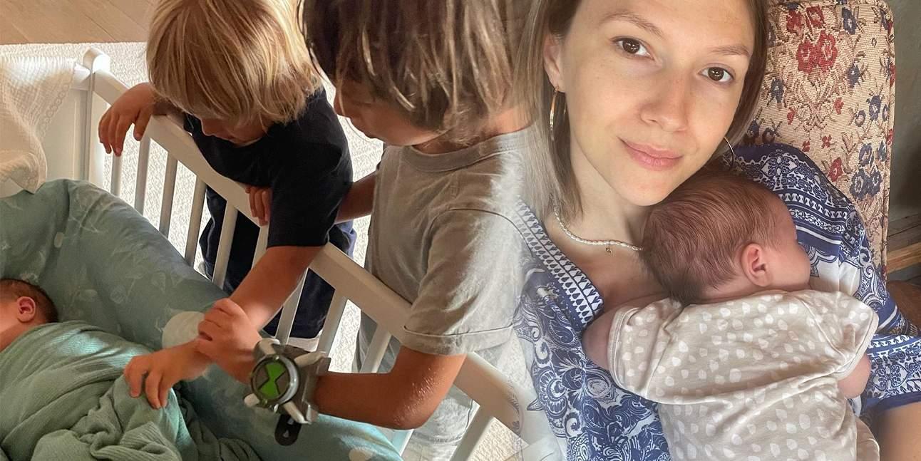 adela popescu cu bebelusul in brate