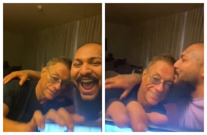 Dani Mocanu, petrecere de zile mari în camera de hotel, cu Jean-Clade Van Damme. Cum s-au filmat cei doi / VIDEO