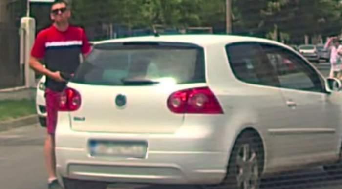 """Un bărbat din Sibiu a fost ameninţat cu pistolul în trafic, după ce a claxonat un alt şofer: """"Poliţia a spus că nu are ce să facă"""" / FOTO"""