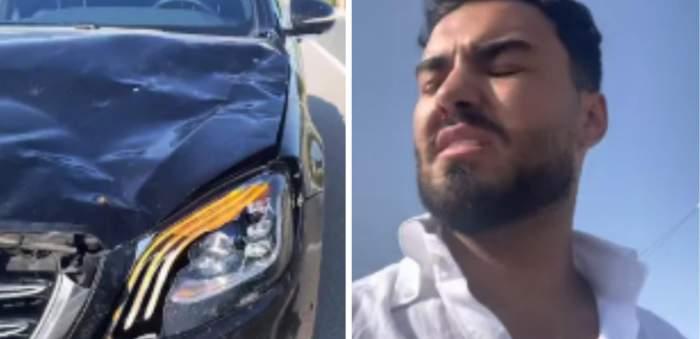"""Jador, accident grav cu mașina! Artistul și-a distrus bolidul de lux. """"Am văzut moartea cu ochii"""" / VIDEO"""