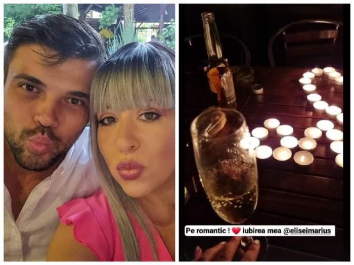 Marius Elisei și  Oana Roman la cină