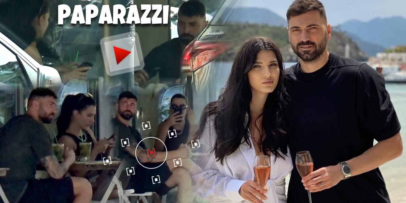 Adrian Ropotan și soția, împreună, dar separați de telefon! Gestul făcut de Raluca înainte de a se apropia de mâncare / PAPARAZZI