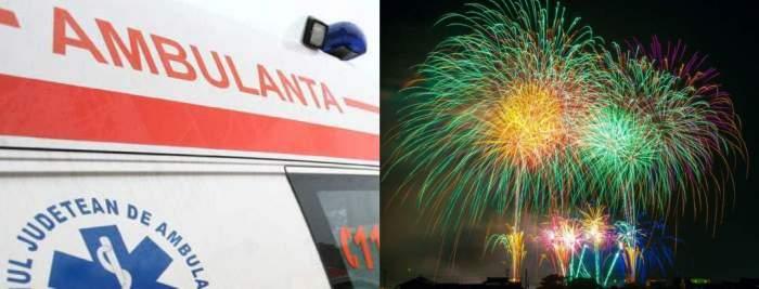 Patru persoane din Dolj, în stare gravă la spital după ce au fost lovite de artificii. Un bărbat a fost operat de urgență