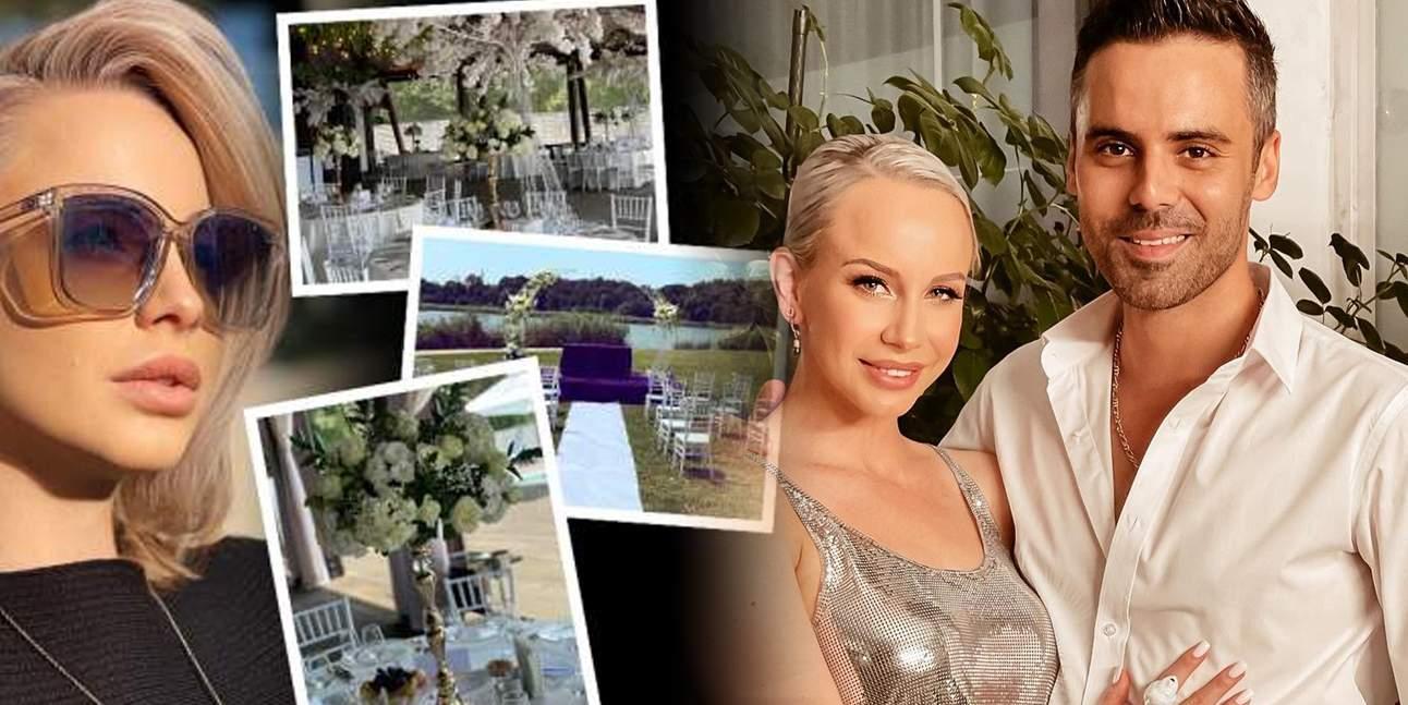 Imagini exclusive de la nunta Sandrei Izbașa cu Răzvan Bănică / FOTO