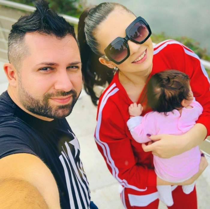 Danezu, selfie alături de soția și fetița lor