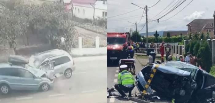 Accident tragic în Bistrița-Năsăud! O tânără gravidă a murit, iar alte trei victime au ajuns la spital. Cum s-a petrecut nenorocirea