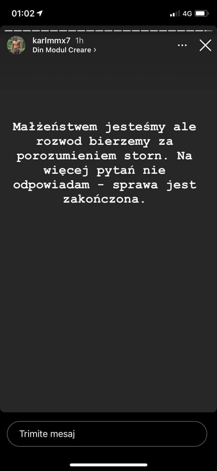 """Justyna divorțează de luptătorul MMA pentru Alex Bodi! Anunțul făcut de soțul șatenei: """"Cazul s-a încheiat"""" / FOTO"""