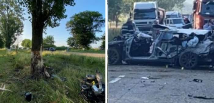 Accident mortal în Botoșani! Un tânăr a pierdut controlul volanului și a intrat cu mașina într-un copac