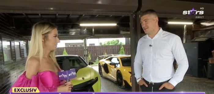 Călin Donca, în garajul său la Antena Stars