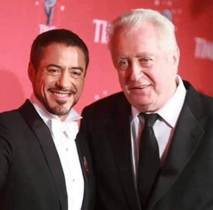 Robert Downey Sr. și Robert Downey Jr. la lansarea unui film