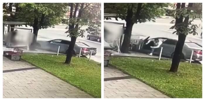 Noi imagini de la accidentul din Baia Mare, în care un tânăr a rămas fără picior și soția i-a murit. Denisa a fost înmormântată ieri / VIDEO