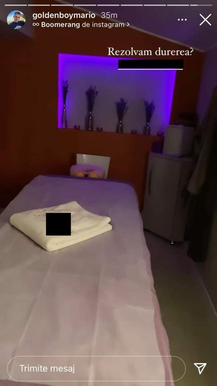 Mario Fresh a filmat patul de la clinica în care a venit pentru a scăpa de durerile de la picior.