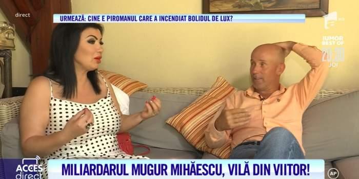 Mugur Mihăescu, în vila sa