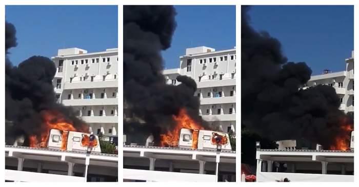 Incendiu puternic la un hotel din Constanța! Pompierii intervin de urgență / VIDEO