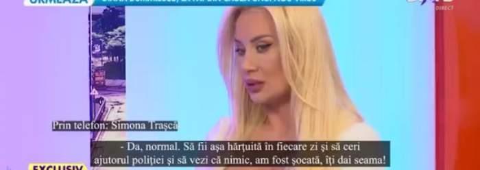 Simona Trașcă a fugit din București pentru a uita de agresor. Cine o apară pe vedetă de individ / VIDEO