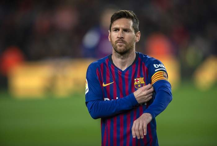 Lionel Messi pe terenul de fotbal