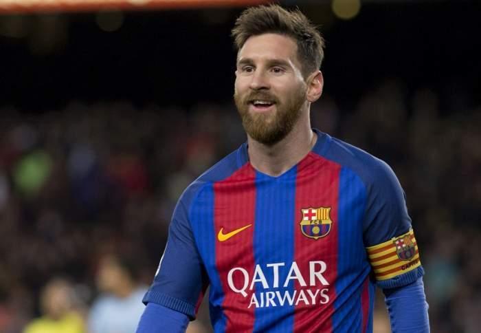 Lionel Messi, pe teren zâmbitor