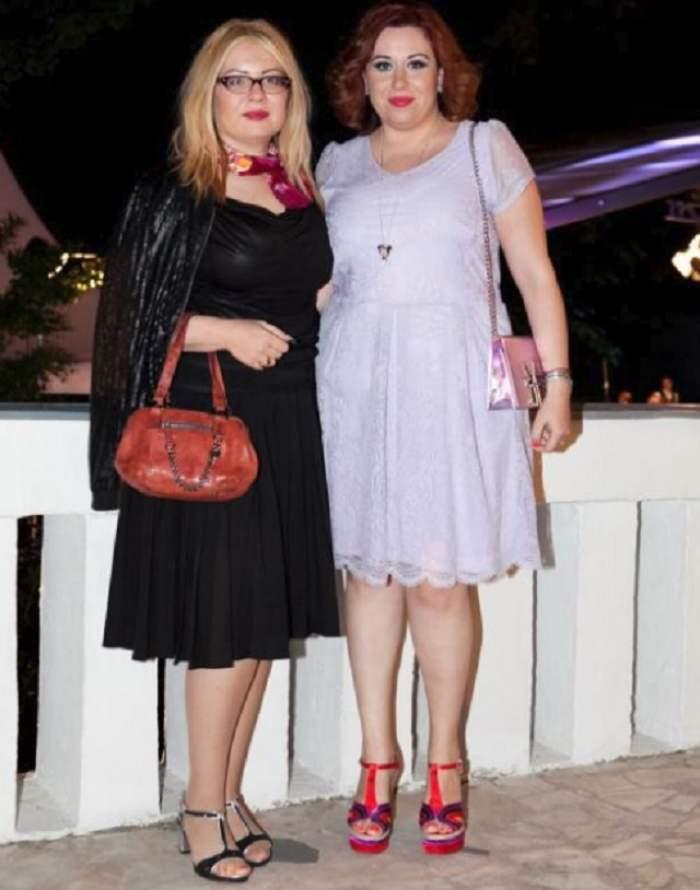 Oana și Catinca Roman, împreună, zâmbitoare