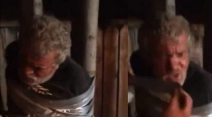 Caz îngrozitor în Vaslui! Un bătrân a fost legat de un stâlp și umilit ore în sir de un grup de tineri