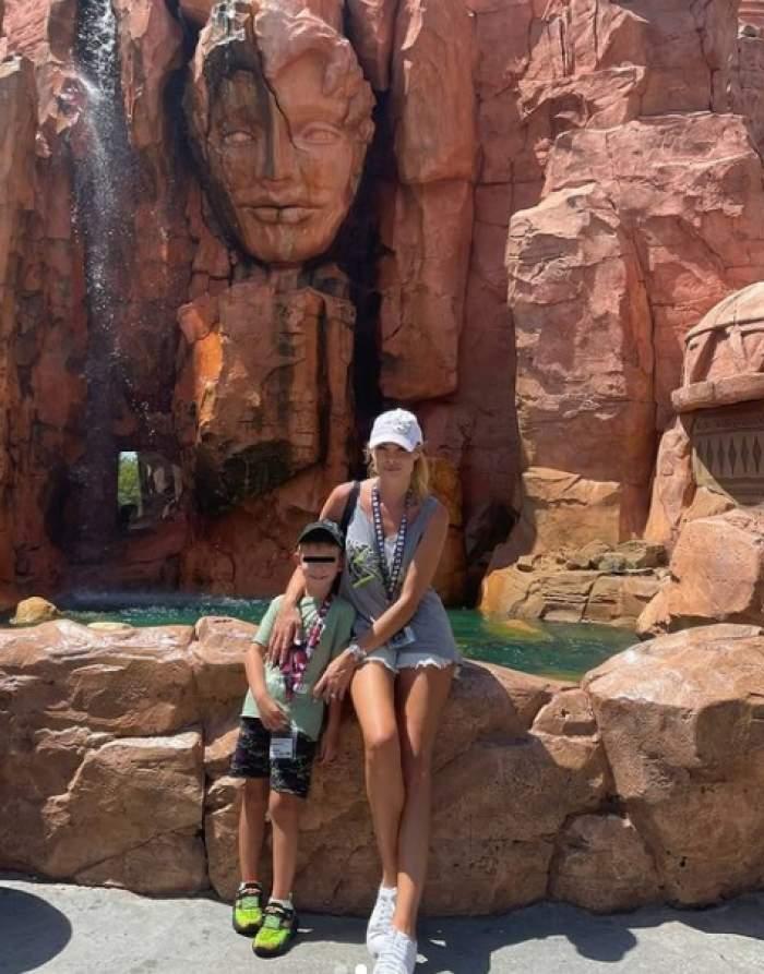 valentina pelinel cu fiul in america