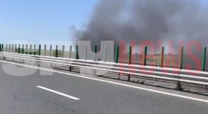 Imagini de la locul incendiului