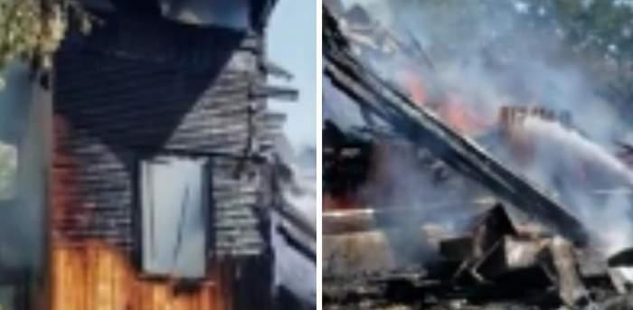 Clipe de groază pentru locuitorii din Vrancea! Biserica de lemn s-a făcut scrum chiar înainte de sărbătoarea Adormirea Maicii Domnului / VIDEO