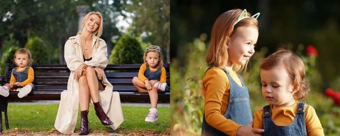 Colaj foto cu Andreea Bălan și fiicele sale