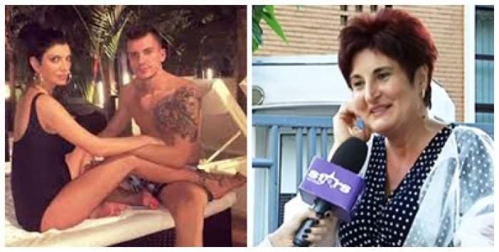 Colaj foto cu Andreea Tonciu, soțul și mama