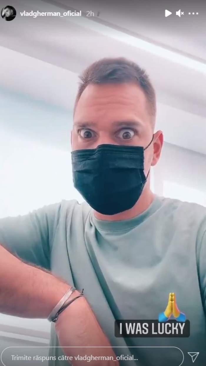 """Vlad Gherman, pe mâinile medicilor. Actorul s-a accidentat: """"Am făcut o mișcare greșită"""" / VIDEO"""