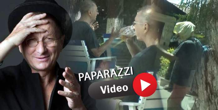 Horațiu Mălăele, într-o formă de zile mari la 69 de ani. Marele actor, după infecția cu COVID-19, surprins la bere cu amicul său, după o partidă de tenis / PAPARAZZI