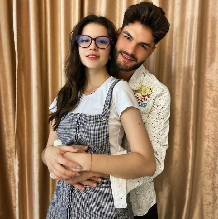Edward Sanda și Cleopatra Stratan s-au fotografiat îmbrățișați