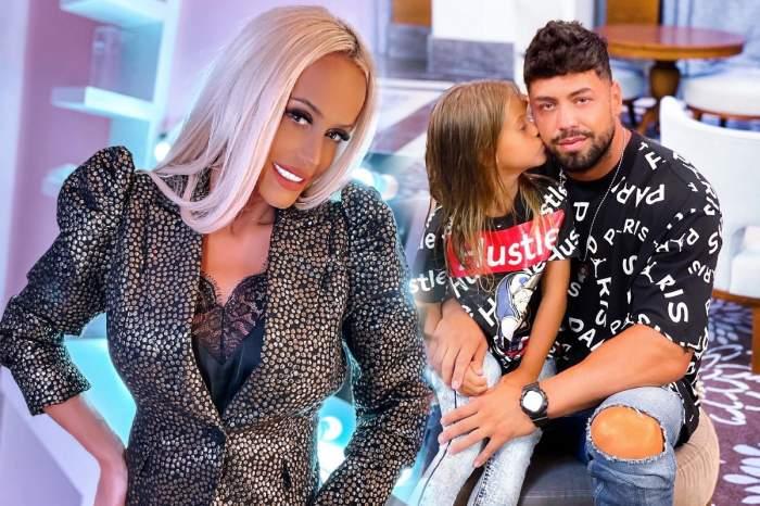 Colaj foto cu Anda Adam, fostul soț și fiica lor