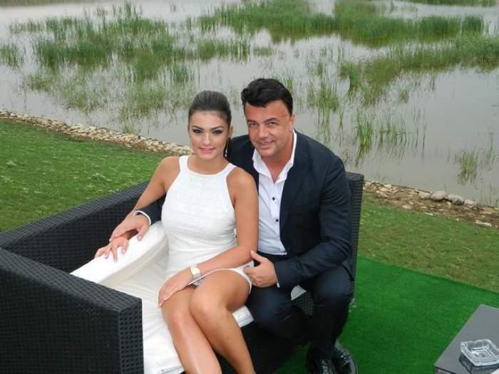 Adrian și Diana Enahce, îmbrățișați, îmbrăcați eleganți