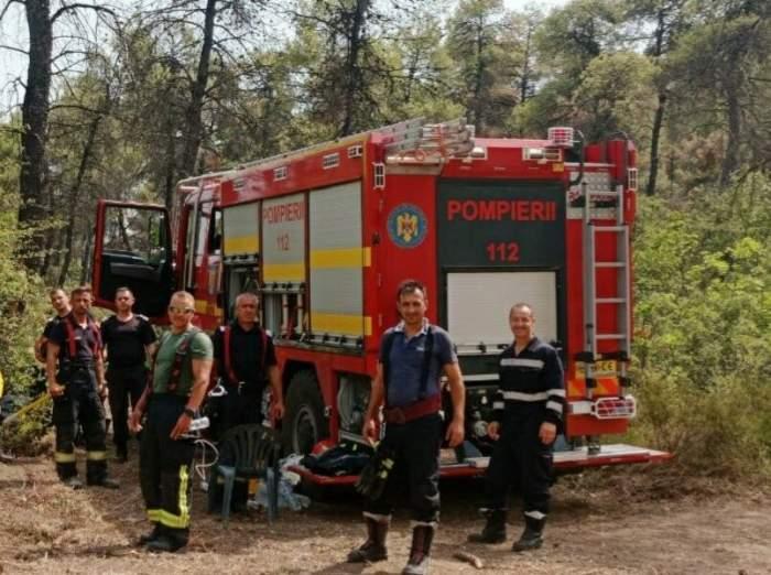 """Pompierii români trimiși în Grecia se întorc acasă. Incendiile devastatoare au fost aduse sub control: """"Misiune îndeplinită"""""""