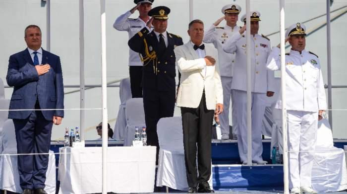 Cum s-au desfășurat festivitățile de Ziua Marinei. Președintele Klaus Iohannis și Florin Cîțu au fost prezenți