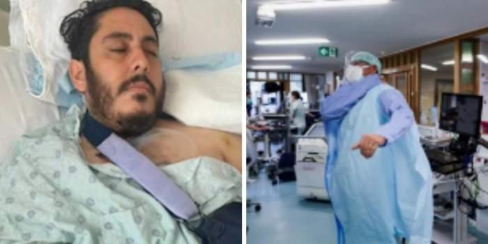 Un bărbat stă cu gloanţele în corp de mai bine de o săptămână. Americanul nu poate fi operat din cauza spitalului ocupat de pacienți infectați cu COVID-19