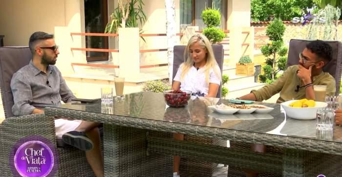 Armin Nicoară și Claudia Puican, la masă cu familia