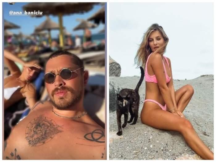 Colaj cu ana Baniciu și iubitul ei la plajă