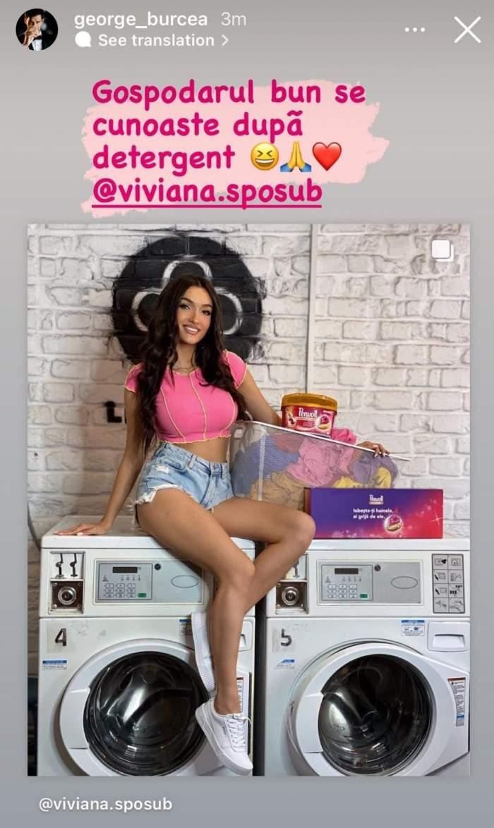 Viviana Sposub l-a șters de pe Instagram, dar George Burcea continuă să publice imagini cu ea. Ce a postat actorul